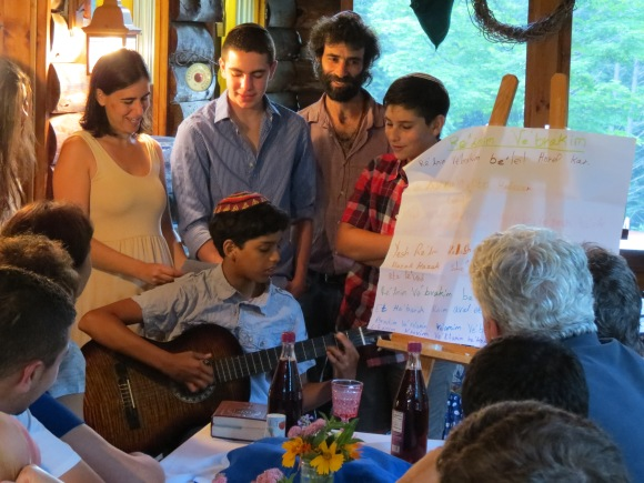 Jewish youth and staff share the Shabbat traditions of their families.