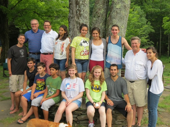 Campers & staff with Frank Fetchet of Voices of September 11th.