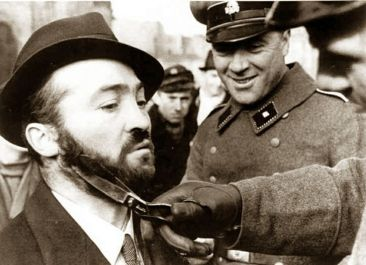 Nazi Soldier Trimming Beard